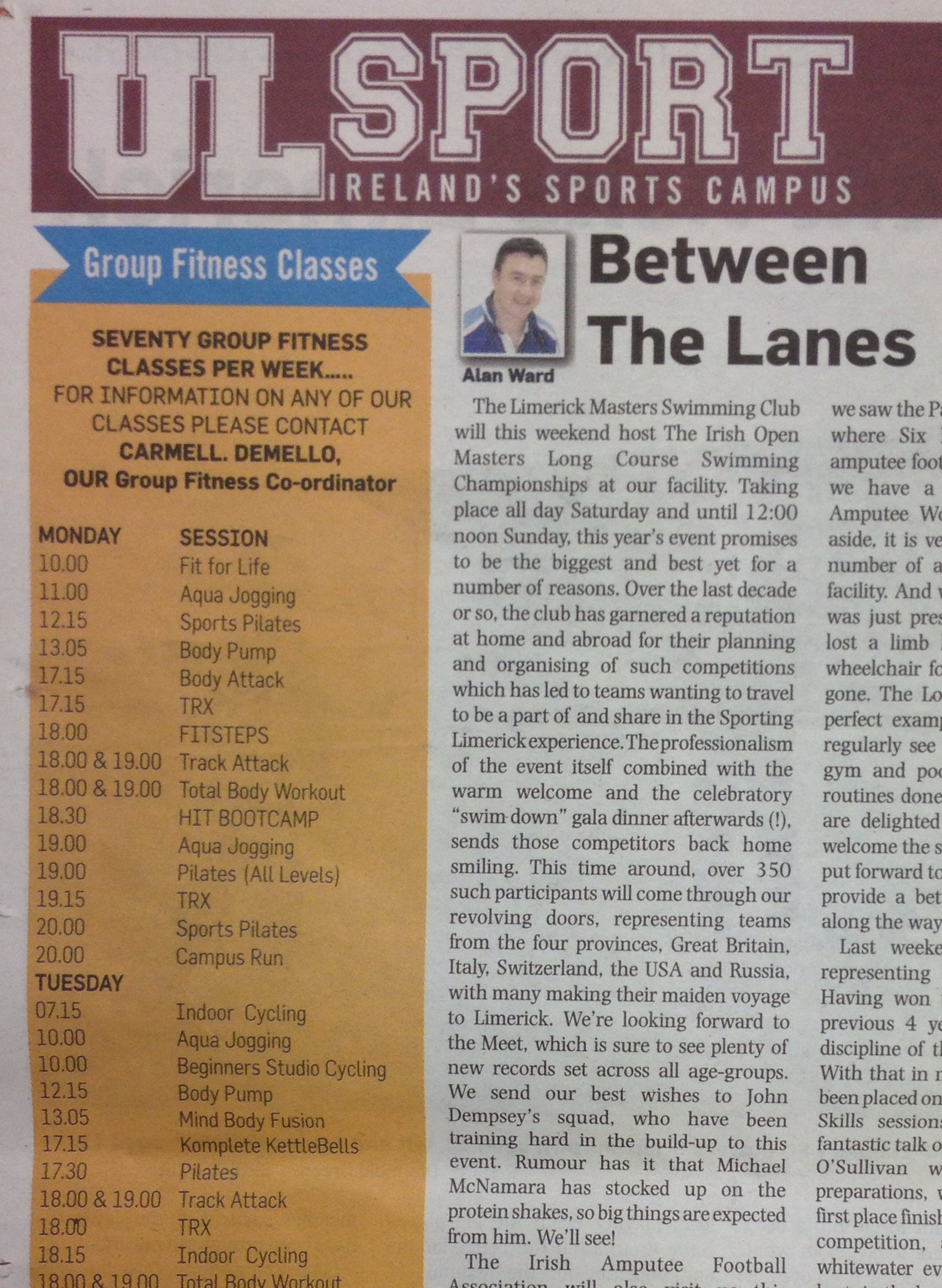 Between the lanes/masters championship club news